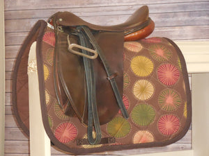 Chocolate Pinwheel Dressage Saddle Pad