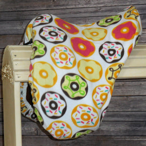 Donuts Fleece Saddle Cover