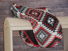 Red and Black South Western Fleece Saddle Cover