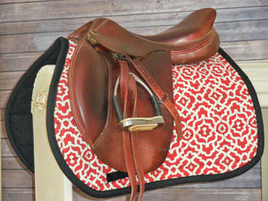 Red and Cream Gate AP Saddle Pad