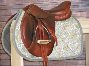 Baby Blue Paisley AP Saddle Pad