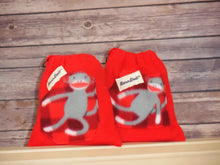 Grey Sock Monkeys Fleece Saddle Cover