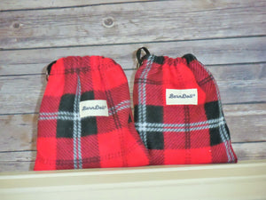 Scottish Red and Black Plaid Fleece Saddle Cover