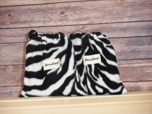 Zebra  Fleece Saddle Cover