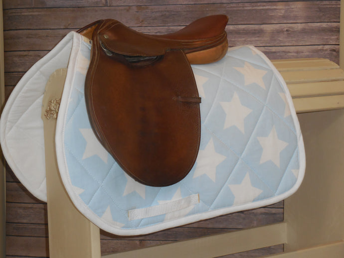 Baby Blue with White Stars AP Saddle Pad
