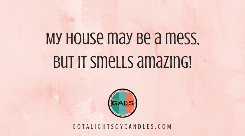 My House May Be a Mess But Quote 16oz Mason Jar Soy Wax Organic Candle, [product_type], Got A Light Soy Candles, [variant_title]