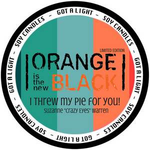 "PRE-ORDER 8oz Suzanne ""Crazy Eyes"" Warren OITNB Limited Edition Organic Candle, [product_type], Got A Light Soy Candles, [variant_title]"