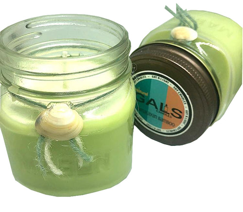 Nepal - Himalayan Bamboo 8oz Mason Jar Soy Wax Organic Candle, [product_type], Got A Light Soy Candles, [variant_title]