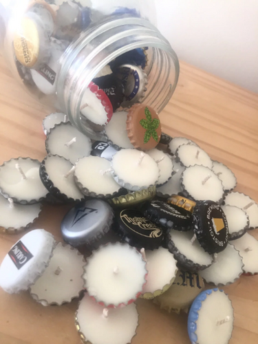 Coconut Bucket of Beer Caps Tealights Soy Wax Organic Candle - Set of 24, [product_type], Got A Light Soy Candles, [variant_title]