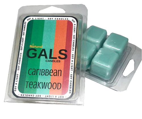 Caribbean Teakwood Soy Wax Melt Organic, [product_type], Got A Light Soy Candles, [variant_title]