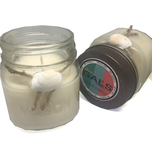 Cinnamon & Vanilla 8oz Mason Jar Soy Wax Organic Candle, [product_type], Got A Light Soy Candles, [variant_title]