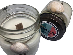 Citronella Wooden Wick 8oz Mason Jar Soy Wax Organic Candle, [product_type], Got A Light Soy Candles, [variant_title]