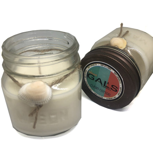 Clean Cotton 8oz Mason Jar Soy Wax Organic Candle, [product_type], Got A Light Soy Candles, [variant_title]