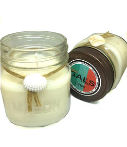 Coffee 8oz Mason Jar Soy Wax Organic Candle, [product_type], Got A Light Soy Candles, [variant_title]