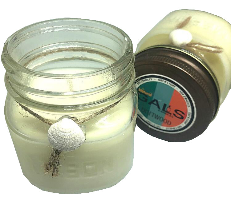 Driftwood 8oz Mason Jar Soy Wax Organic Candle, [product_type], Got A Light Soy Candles, [variant_title]