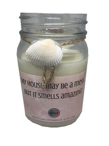 My House May Be a Mess But Cranberry Marmalade 16oz Mason Jar Soy Wax Organic Candle, [product_type], Got A Light Soy Candles, [variant_title]