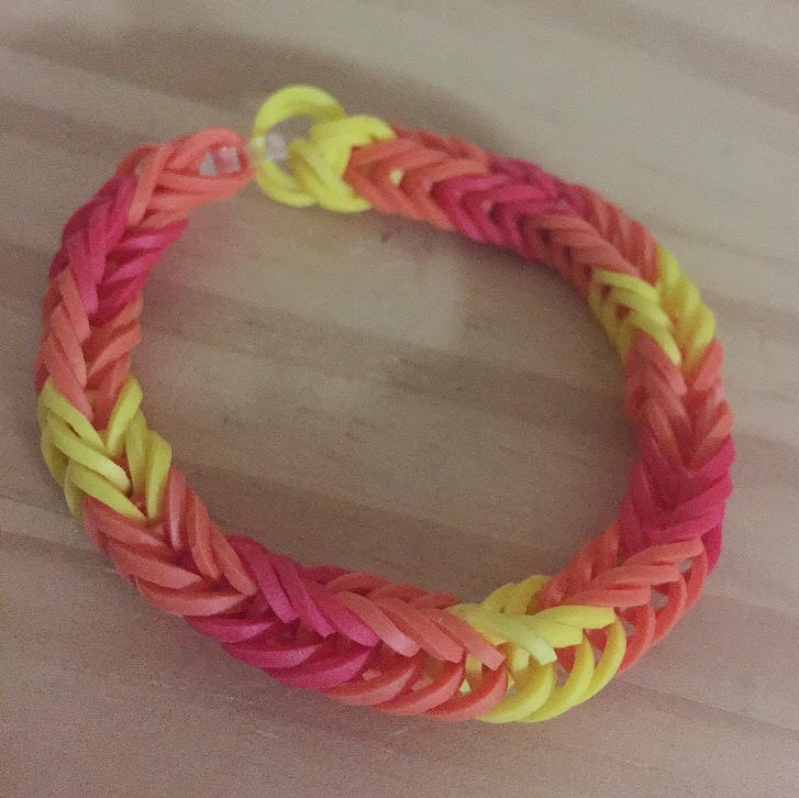 Red Orange Yellow Rainbow Loom Colorful Fishtail Simple Bracelet (Proceeds donated to the International Child Art Foundation), [product_type], Got A Light Soy Candles, [variant_title]