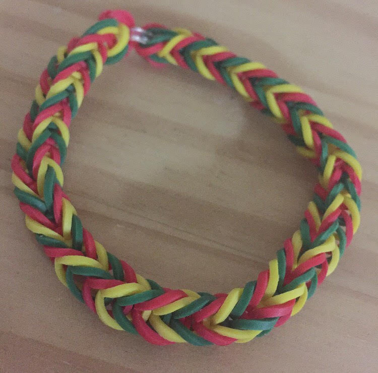 Red Green Yellow Rainbow Loom Colorful Fishtail Simple Bracelet (Proceeds donated to the International Child Art Foundation), [product_type], Got A Light Soy Candles, [variant_title]