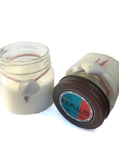 Jamaica Me Crazy 8oz Mason Jar Soy Wax Organic Candle, [product_type], Got A Light Soy Candles, [variant_title]