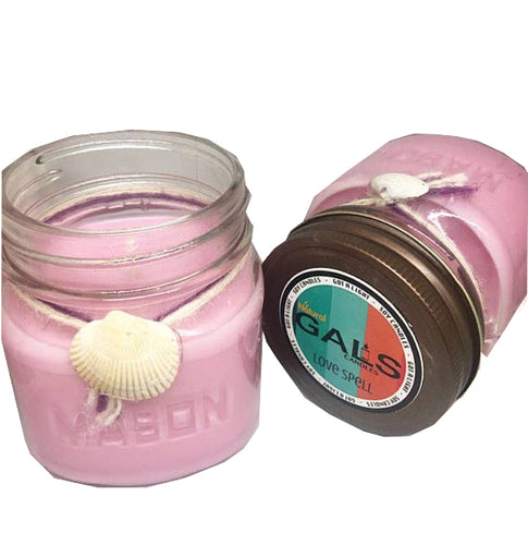 Love Spell 8oz Mason Jar Soy Wax Organic Candle - Got A Light Soy Candles