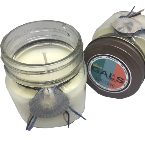 Man Cave 8oz Mason Jar Soy Wax Organic Candle, [product_type], Got A Light Soy Candles, [variant_title]