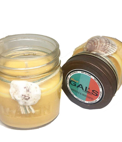 Mimosa & Mandarin 8oz Mason Jar Soy Wax Organic Candle, [product_type], Got A Light Soy Candles, [variant_title]