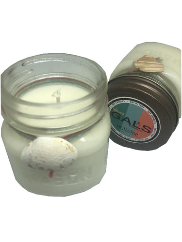Mistletoe 8oz Mason Jar Soy Wax Organic Candle, [product_type], Got A Light Soy Candles, [variant_title]