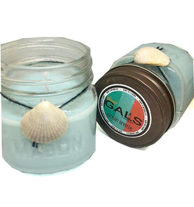 Ocean Breeze 8oz Mason Jar Soy Wax Organic Candle, [product_type], Got A Light Soy Candles, [variant_title]