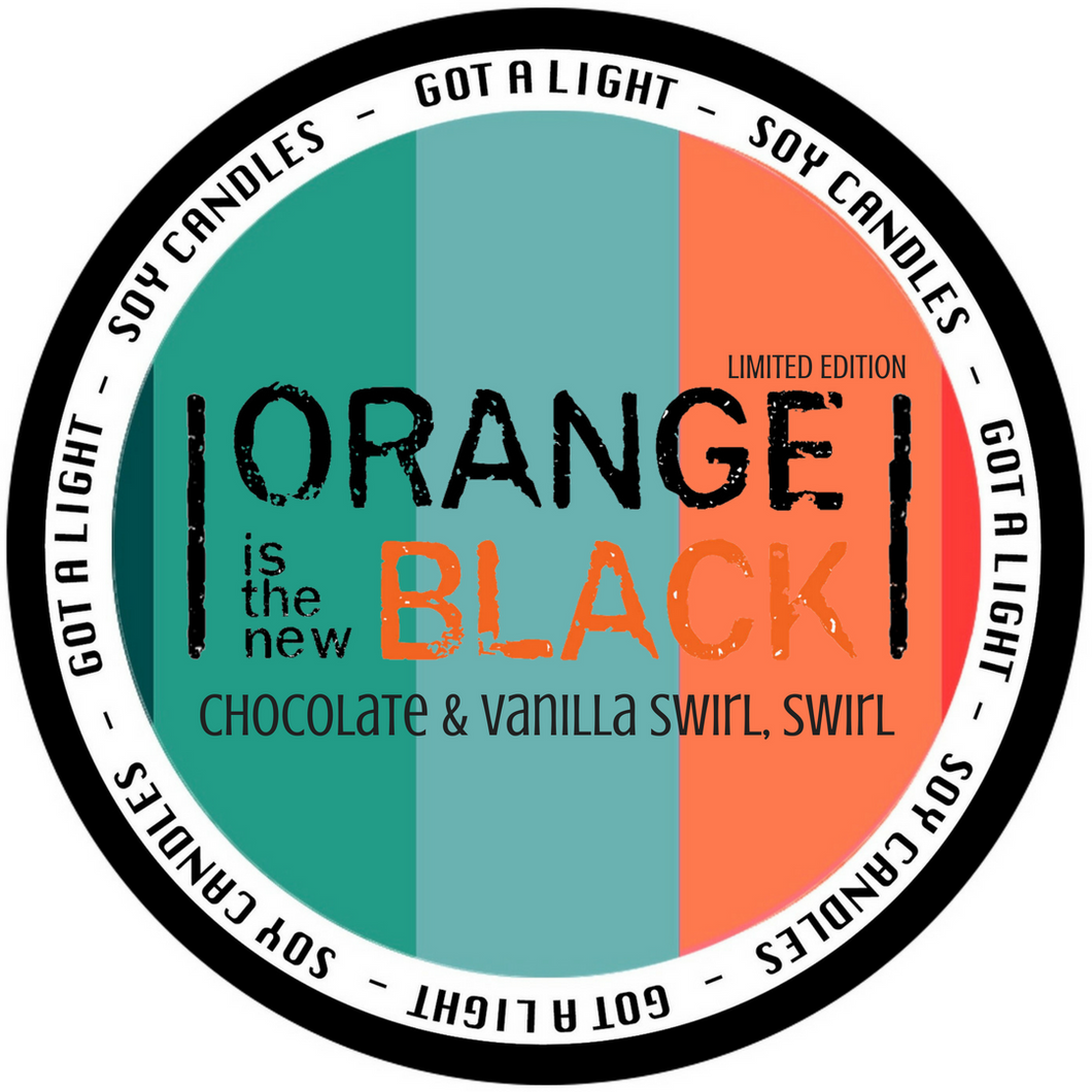 PRE-ORDER 8oz Chocolate & Vanilla Swirl Swirl OITNB Limited Edition Organic Candle, [product_type], Got A Light Soy Candles, [variant_title]