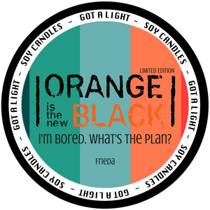 PRE-ORDER 8oz Frieda OITNB Limited Edition Organic Candle, [product_type], Got A Light Soy Candles, [variant_title]