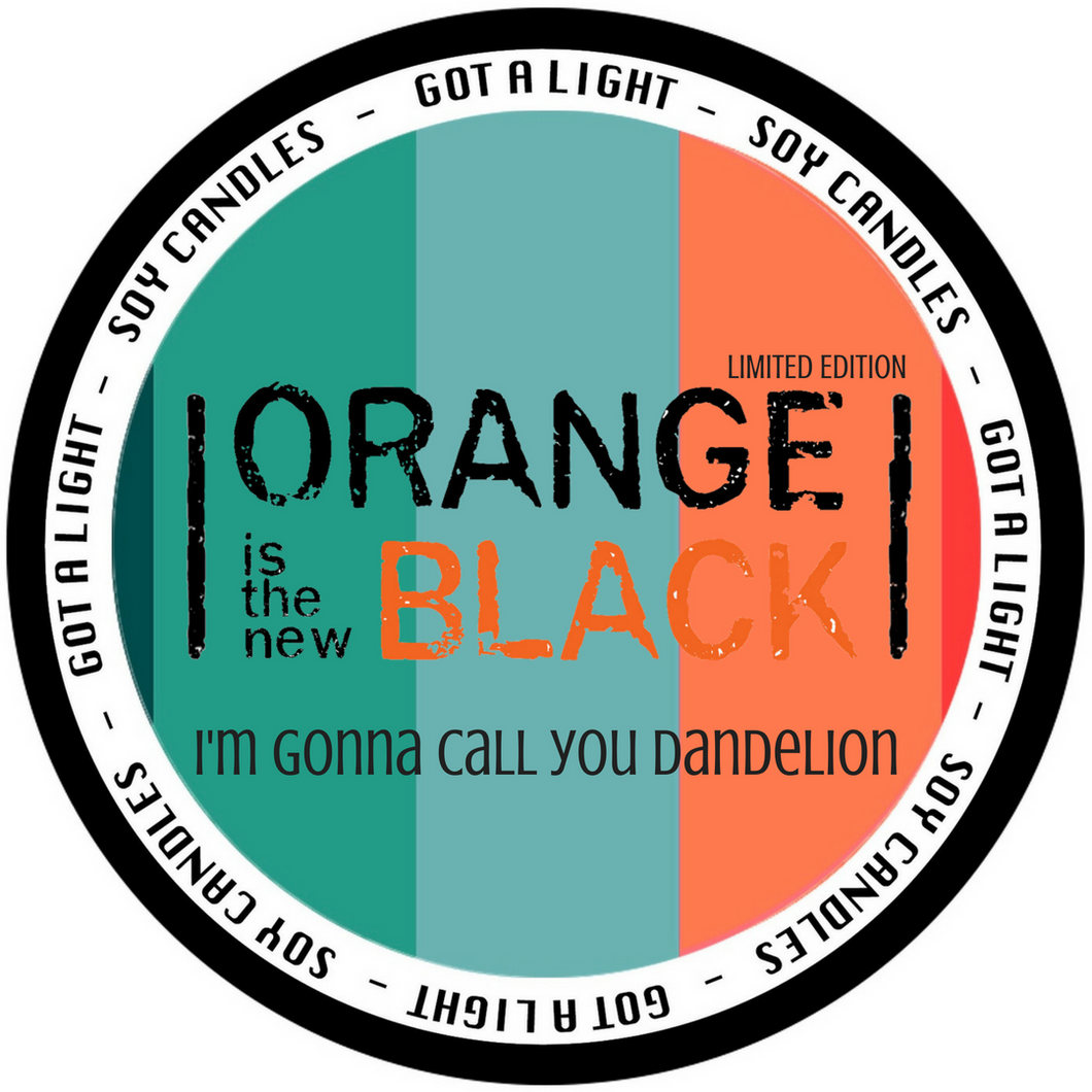 PRE-ORDER 8oz Piper Chapman Dandelion OITNB Limited Edition Organic Candle, [product_type], Got A Light Soy Candles, [variant_title]