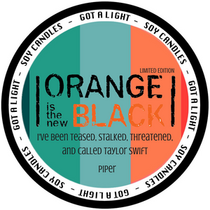 PRE-ORDER 8oz Piper Chapman Pumpkin Spice OITNB Limited Edition Organic Candle, [product_type], Got A Light Soy Candles, [variant_title]