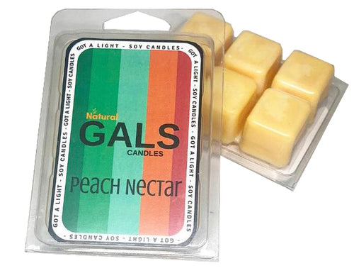 SALE - Georgia - Peach Nectar Soy Wax Melt Organic, [product_type], Got A Light Soy Candles, [variant_title]
