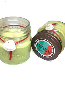 SALE - Pineapple Sage 8oz Mason Jar Soy Wax Organic Candle, [product_type], Got A Light Soy Candles, [variant_title]