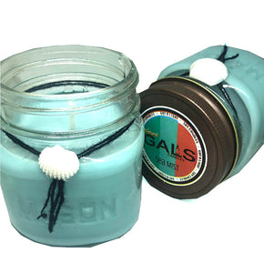 Sea Mist 8oz Mason Jar Soy Wax Organic Candle, [product_type], Got A Light Soy Candles, [variant_title]