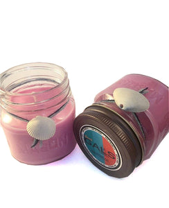 SALE - Watermelon 8oz Mason Jar Soy Wax Organic Candle, [product_type], Got A Light Soy Candles, [variant_title]