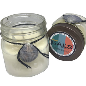 Sunshine & Whiskey 8oz Mason Jar Soy Wax Organic Candle, [product_type], Got A Light Soy Candles, [variant_title]