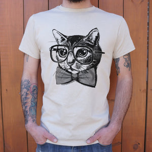 Mens Nerd Cat T-Shirt