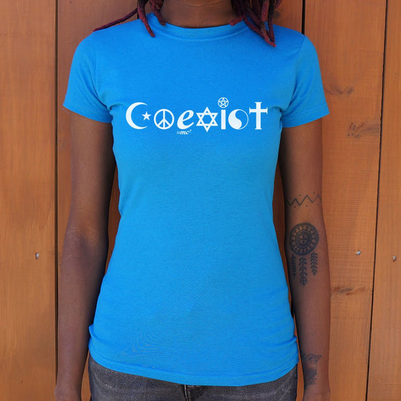 Womens Coexist Symbols T-Shirt