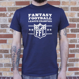 Mens Fantasy Football League Champion  T-Shirt
