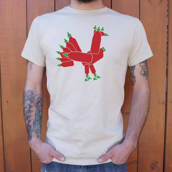 Mens Hot Sauce Rooster T-Shirt