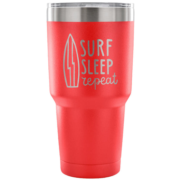 Stainless Steel Tumbler - Surf Sleep Repeat (30 oz)