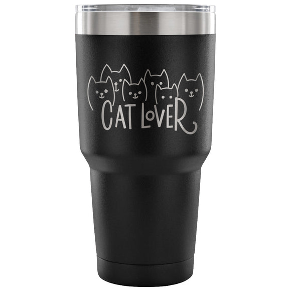 Stainless Steel Tumbler - Cat Lover (30 oz)