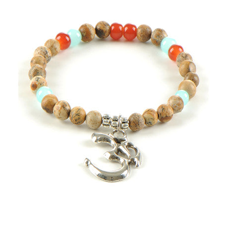 Aum Yoga Fancy Beads Bracelet