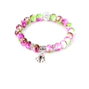 Cherry Bead Yoga Bracelet
