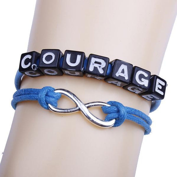 Everlasting Courage Blue Bracelet