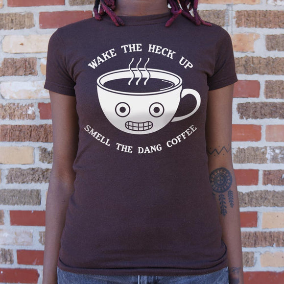 Womens Smell The Coffee T-Shirt