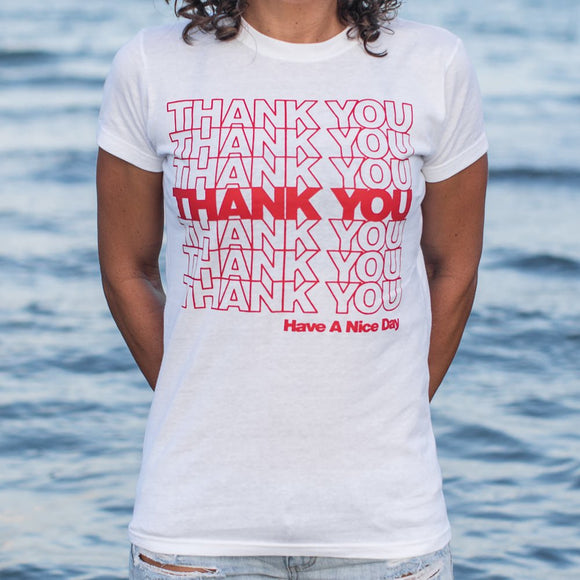 Womens Thank You Bag T-Shirt