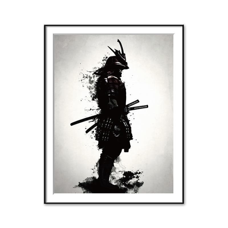 30x40cm Ancient Japanese Samurai Warrior Canvas