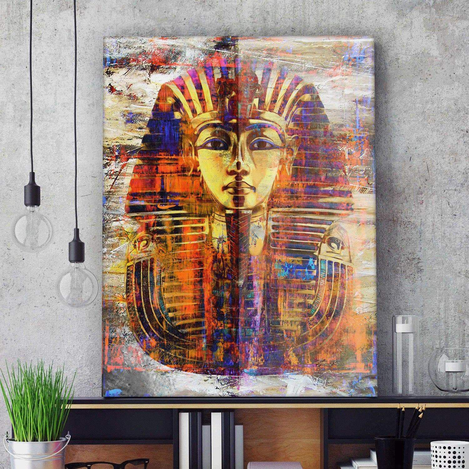 Ancient Egypt King Tut Wall Art Canvas Ancient Treasures Ancientreasures Viking Odin Thor Mjolnir Celtic Ancient Egypt Norse Norse Mythology